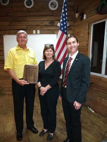 Andre Klass and Jim Turney Present Commemoration Plaque to Ellen Barr